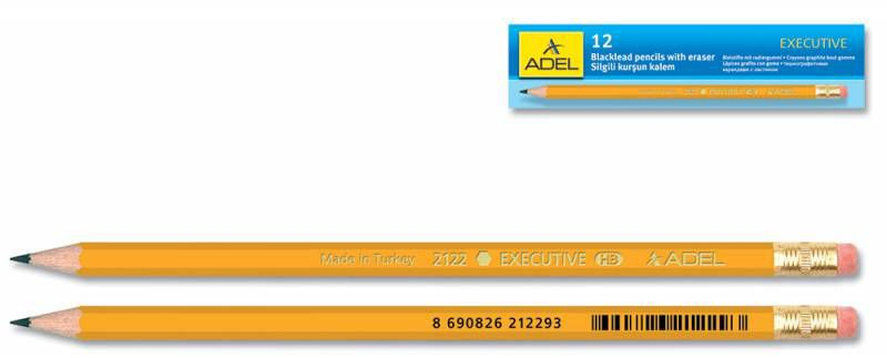 Карандаш чернографит. Adel Executive 203-2122-005 HB ластик корпус охра