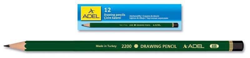 Карандаш чернографит. Adel DRAWING 210-2200-155 для технических и чертежных целей 5H
