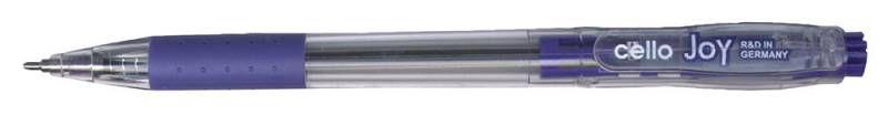 Ручка шариковая Cello JOY авт. 0.8мм резин. манжета синий коробка