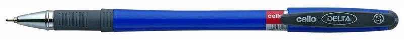 Ручка шариковая Cello DELTA 0.7мм резин. манжета синий коробка