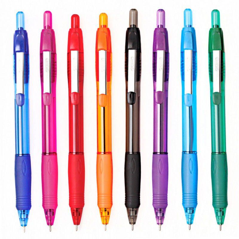 Ручка шариковая Cello JETTA STEEL авт. 0.7мм фиолетовый синие чернила коробка