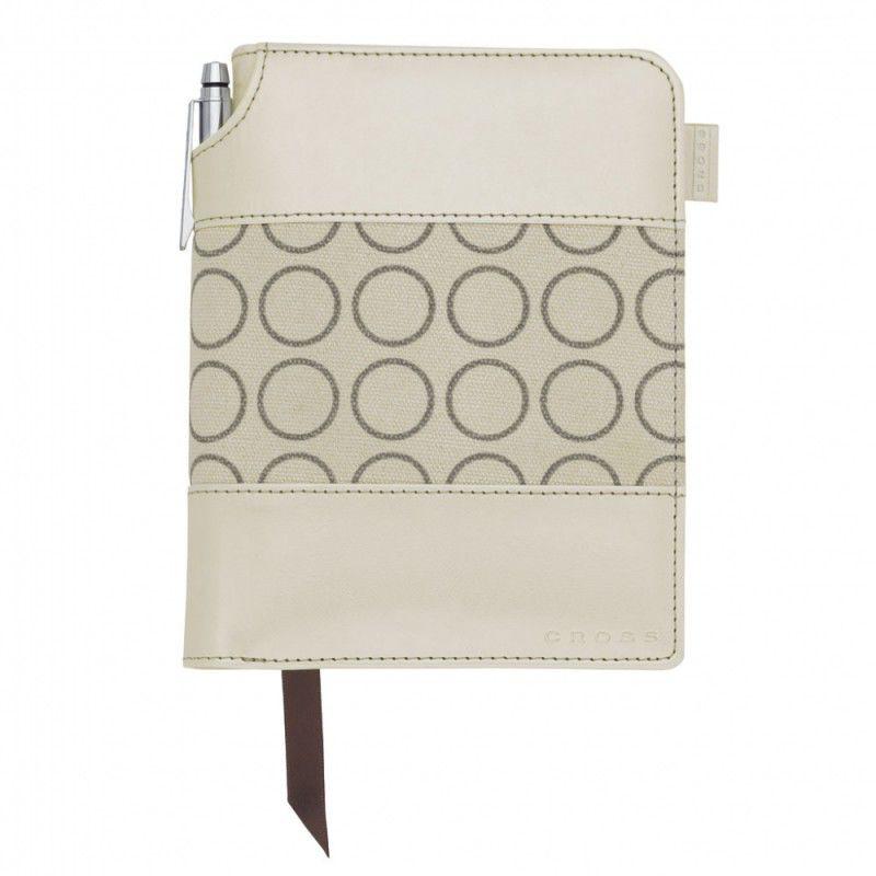 Записная книжка Cross Journal Signature A6 248 страниц в линейку ручка 3/4 в ком перламутрово-белый [ac248-31s]