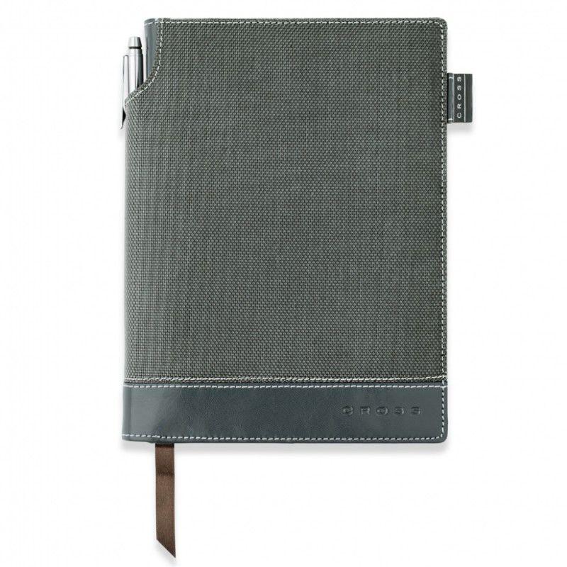 Записная книжка Cross Journal Textured A5 250 страниц в линейку ручка 3/4 в комплекте серый [ac249-2m]