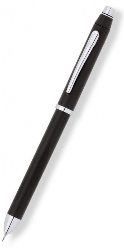 Ручка многофункциональная Cross Tech3+ (AT0090-3) черный M стерж.:чер.крас/мех.кар.0.5мм/стилус