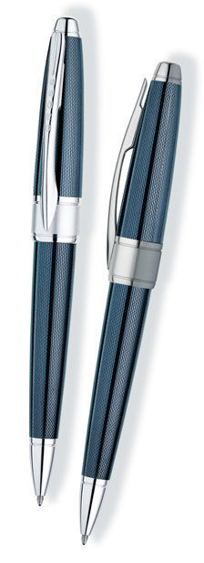 Ручка шариковая Cross Apogee (AT0122-6) Frosty Steel (M) чернила: черный полированный хром с матовым