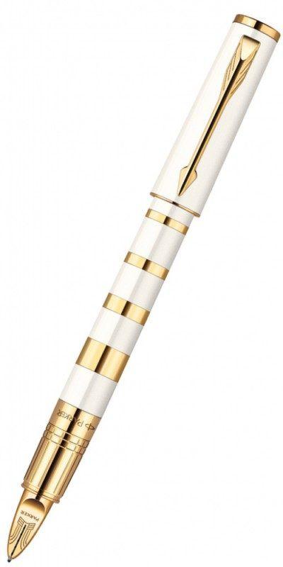 Ручка 5й пишущий узел Parker Ingenuity S F503 Ring (1858536) корпус:Pearl Metal GT F черные чернила