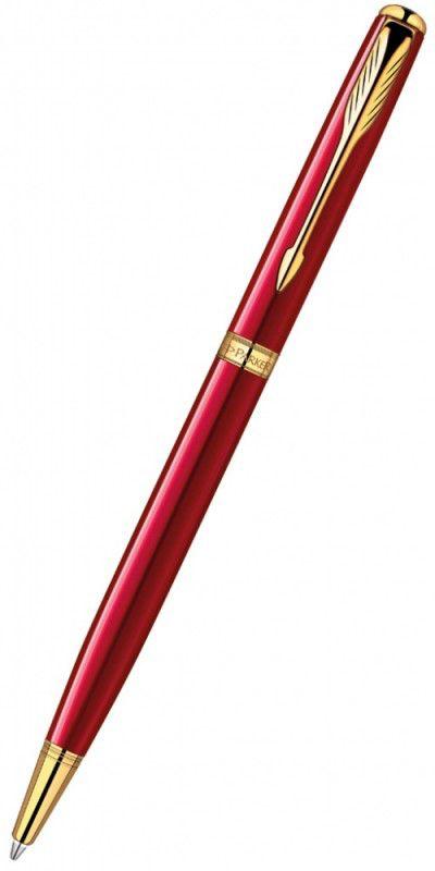 Ручка шариковая Parker Sonnet K439 Slim (1859473) LaqRed GT F черные чернила подар.кор.