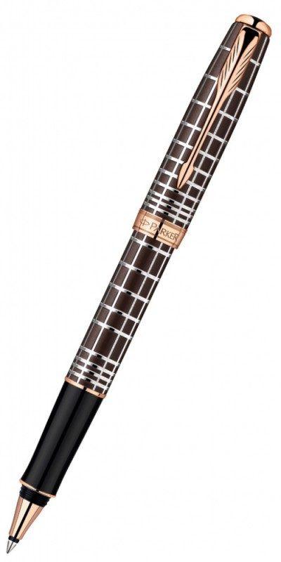 Ручка роллер Parker Sonnet T531 Masculine (1859483) Brown PGT F черные чернила подар.кор.