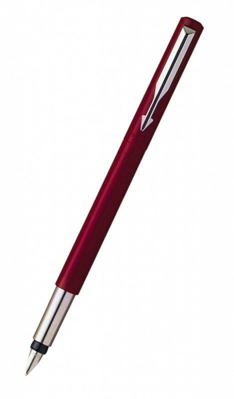 Ручка перьевая Parker Vector Standard F01 (S0282490) красный F сталь нержавеющая подар.кор.