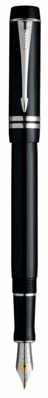 Ручка перьевая Parker Duofold F89 International (S0690560) Black PT F золото 18K с родиевым покрытие