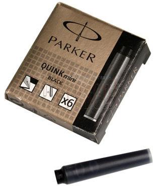 Картридж Parker Quink Z17 MINI (S0767220) черный чернила для ручек перьевых (6шт)
