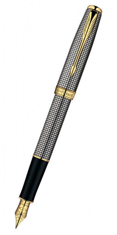 Ручка перьевая Parker Sonnet F534 (S0808140) Cisele GT серебро 925 пробы 15.6г F золото 18К с частич