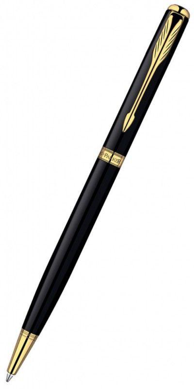 Ручка шариковая Parker Sonnet Slim K430 (S0808740) LaqBlack GT M черные чернила подар.кор.