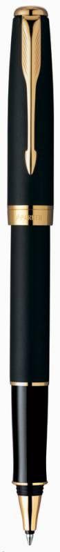 Ручка роллер Parker Sonnet T528 (S0817970) Matte Black GT F черные чернила подар.кор.