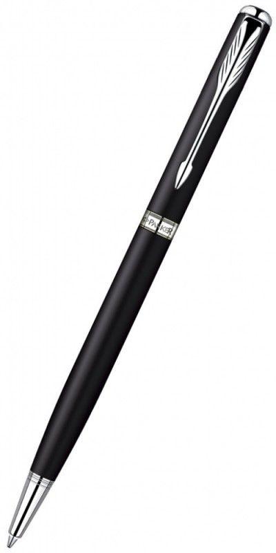 Ручка шариковая Parker Sonnet Slim K429 (S0818170) Matte Black CT M черные чернила подар.кор.