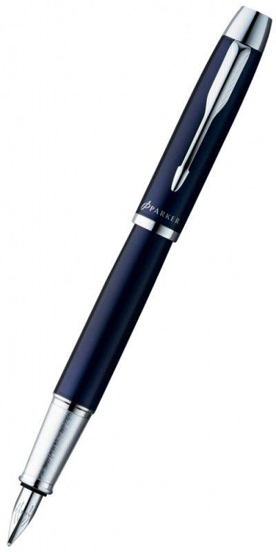 Ручка перьевая Parker IM Metal F221 (S0856210) Blue CT F сталь нержавеющая подар.кор.