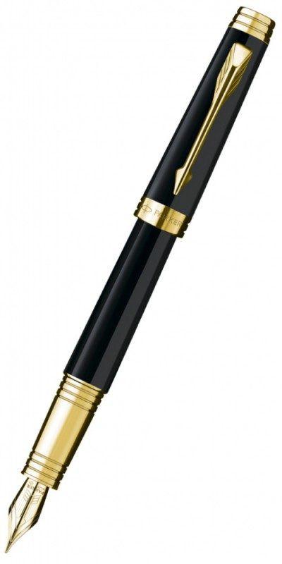 Ручка перьевая Parker Premier Lacque F560 (S0887810) Black GT перо золото 18K с родиевым покрытием F