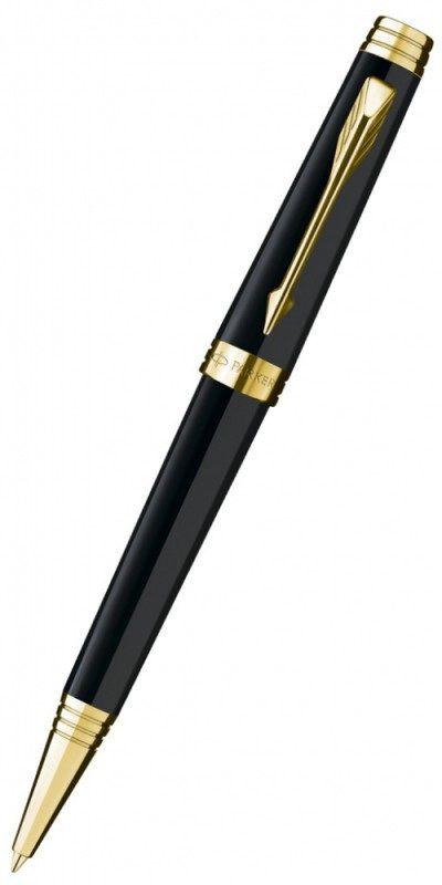 Ручка шариковая Parker Premier Lacque K560 (S0887840) Black GT M черные чернила подар.кор.