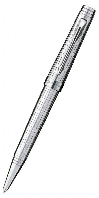 Ручка шариковая Parker Premier DeLuxe K562 (S0888000) Chiselling ST M черные чернила подар.кор.