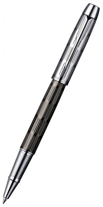 Ручка роллер Parker IM Premium T222 (S0908600) Twin Chiselled F черные чернила подар.кор.