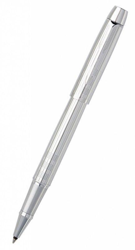 Ручка роллер Parker IM Premium T222 (S0908650) Shiny Chrome F черные чернила подар.кор.