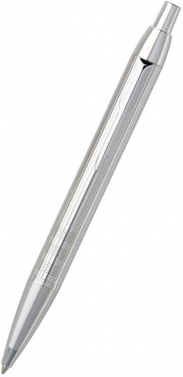 Ручка шариковая Parker IM Premium K222 (S0908660) Shiny Chrome M синие чернила подар.кор.