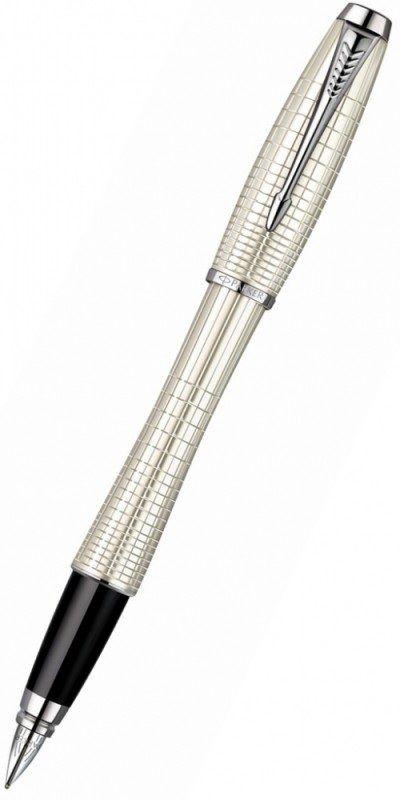 Ручка перьевая Parker Urban Premium F204 (S0911430) Pearl Metal Chiselled F сталь нержавеющая подар.