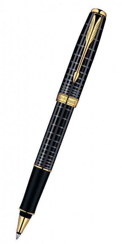 Ручка роллер Parker Sonnet T531 (S0912460) Dark Grey Laquer GT F черные чернила подар.кор.