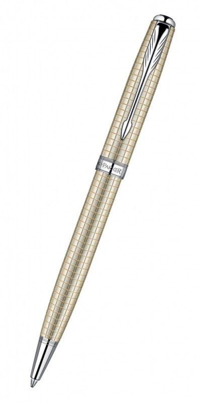 Ручка шариковая Parker Sonnet K535 (S0912520) Cisele Decal CT серебро 925 пробы 12.66г M черные черн