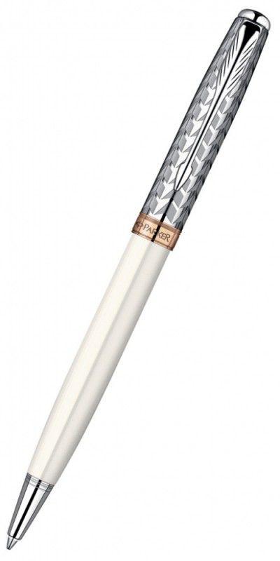 Ручка шариковая Parker Sonnet K540 (S0947340) Metal&Pearl PGT CT M черные чернила подар.кор.