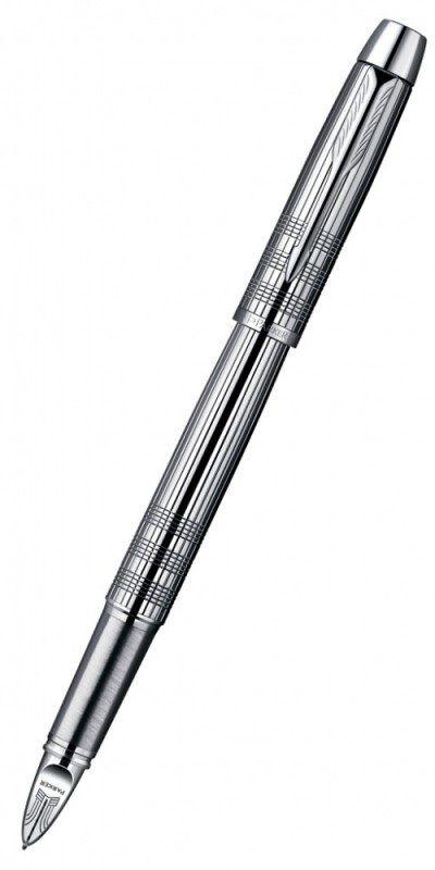 Ручка 5й пишущий узел Parker IM Premium F522 (S0976090) корпус:Shiny Chrome F черные чернила