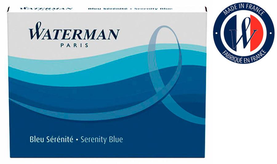 Картридж Waterman (S0110860) синие чернила для ручек перьевых (8шт)