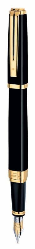 Ручка перьевая Waterman Exception Ideal (S0636780) Black GT F золото 18K подар.кор.