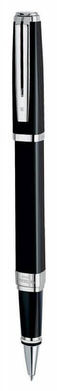 Ручка роллер Waterman Exception Night&Day (S0636860) Black ST (F) чернила: черный латунь посеребрени