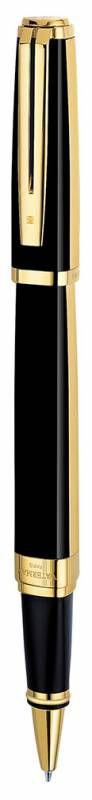 Ручка роллер Waterman Exception Night&Day (S0636910) Gold GT F черные чернила подар.кор.