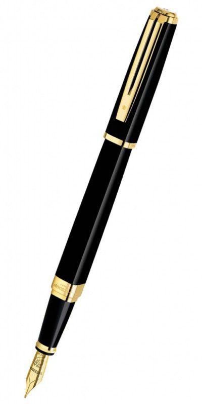 Ручка перьевая Waterman Exception Slim (S0636930) Black GT F золото 18K подар.кор.