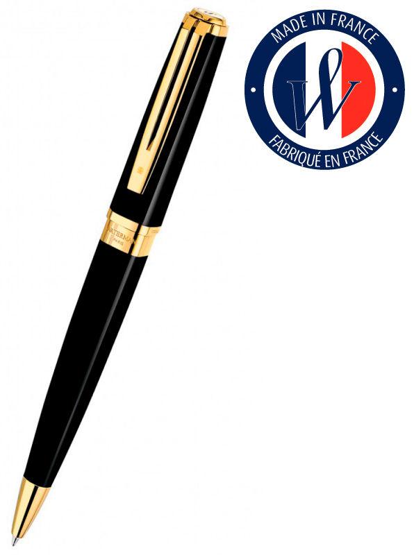 Ручка шариковая Waterman Exception Slim (S0636960) Black GT (M) чернила: синий позолота 23К