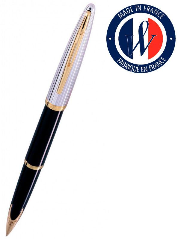 Ручка перьевая Waterman Carene De Luxe (S0699920) Black Silver GT F золото 18K подар.кор.