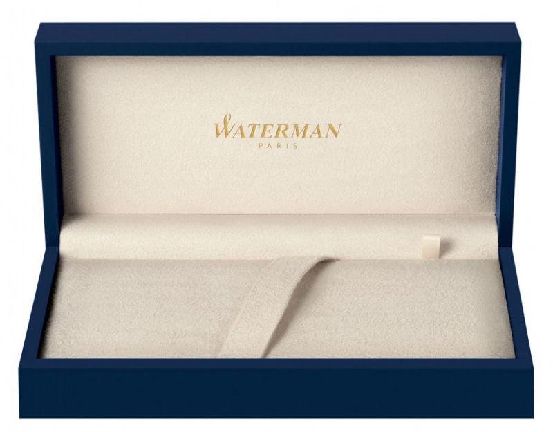 Ручка роллер Waterman Carene De Luxe (S0699980) Black Silver GT F черные чернила подар.кор.