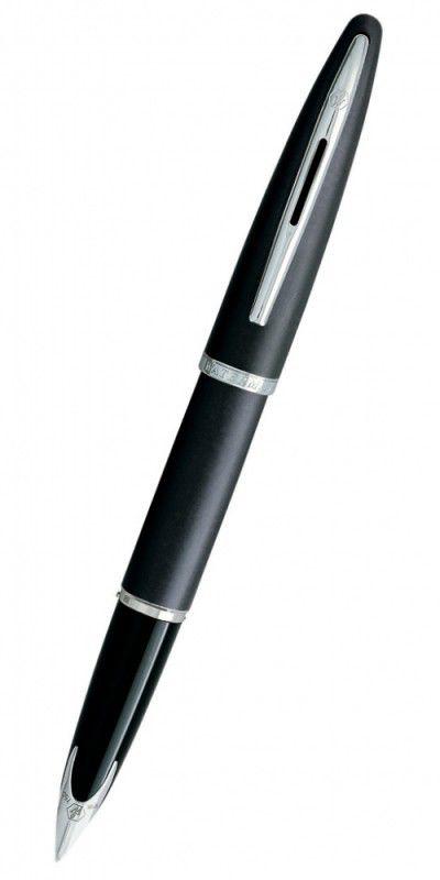 Ручка перьевая Waterman Carene (S0700440) Grey Charcoal F золото 18K с родиевым покрытием подар.кор.