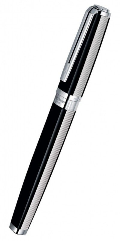 Ручка перьевая Waterman Exception Night & Day (S0709140) Platinum ST F золото 18K подар.кор.