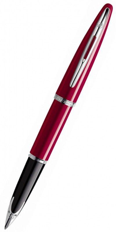 Ручка перьевая Waterman Carene (S0839580) Glossy Red Lacquer ST F золото 18K с родиевым покрытием по