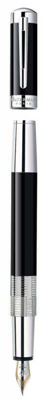 Ручка перьевая Waterman Elegance (S0891390) Black ST F золото 18К с частичной родиевой отделкой пода