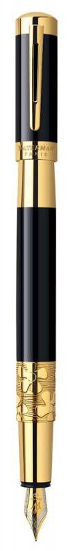 Ручка перьевая Waterman Elegance (S0898610) Black GT F золото 18К с частичной родиевой отделкой пода