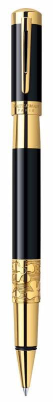 Ручка роллер Waterman Elegance (S0898650) Black GT F черные чернила подар.кор.