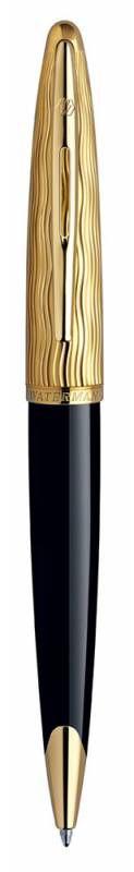 Ручка роллер Waterman Carene (S0909790) Essential Black GT F черные чернила подар.кор.