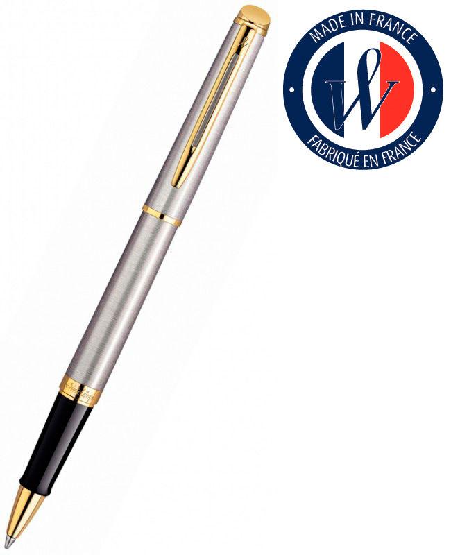 Ручка роллер Waterman Hemisphere (S0920350) Steel GT F черные чернила подар.кор.