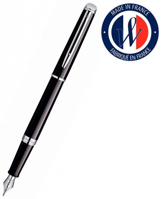 Ручка перьевая Waterman Hemisphere (S0920510) Mars Black CT перо сталь с хромированным покрытием F п