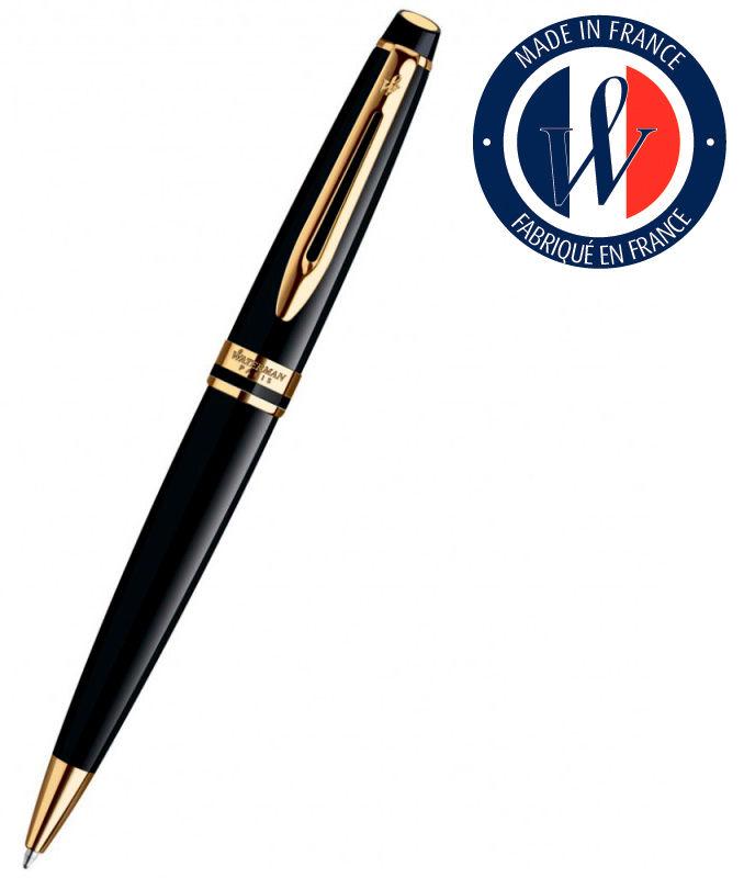 Ручка шариковая Waterman Expert 3 (S0951700) Black Laque GT M синие чернила подар.кор.