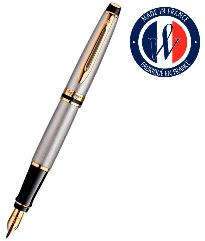 Ручка перьевая Waterman Expert 3 (S0951940) Stainless Steel GT F сталь подар.кор.